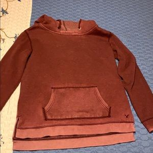 American Eagle Red Faded Sweatshirt